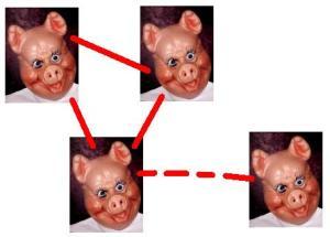 pr-konsulter som liknas vid grisar